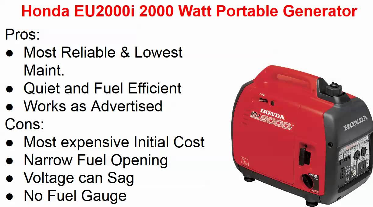 Best small quiet portable generator for camping honda vs for Honda vs yamaha generator
