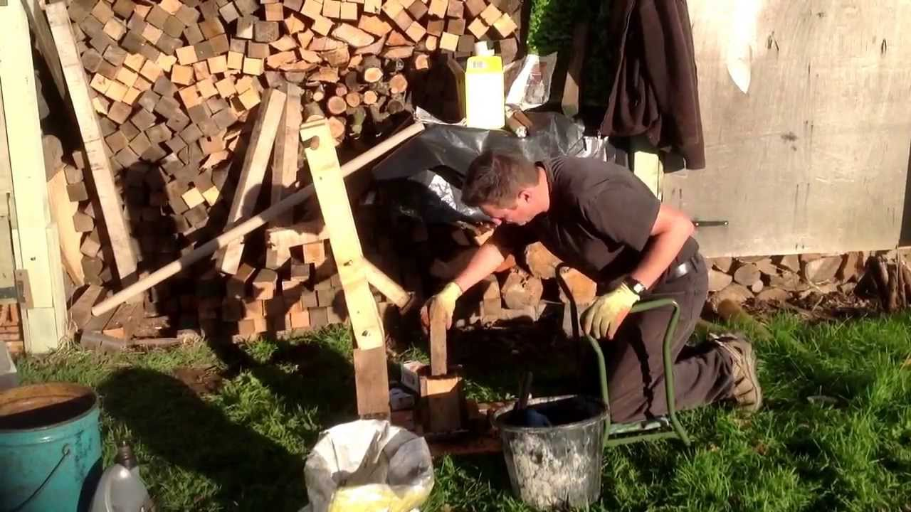 Working In Sawdust ~ How to make fuel from sawdust and old oil youtube