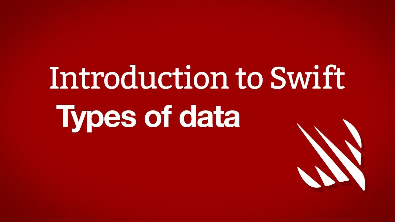 Introduction to Swift: Types of data