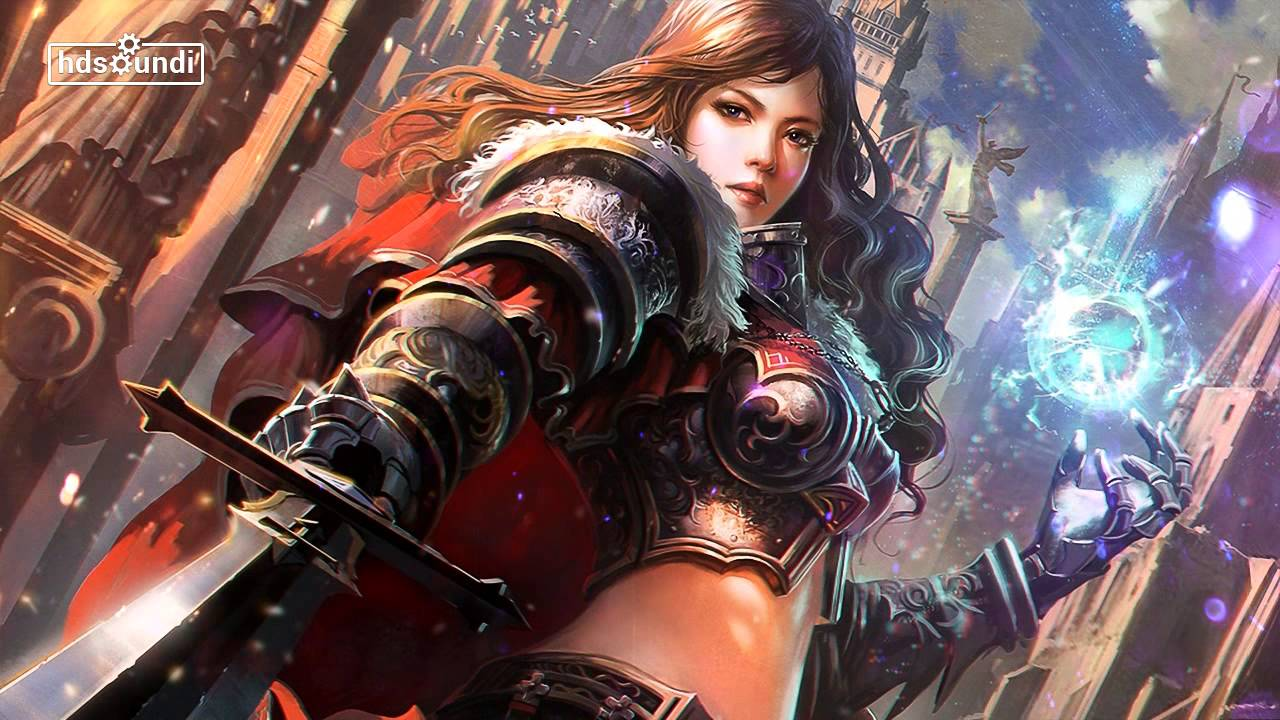 "Women Warrior Artwork Sword Rain Cyberpunk Cyberpunk: Most Epic Music Ever: ""The Honor In Her Efforts"" By Phil"