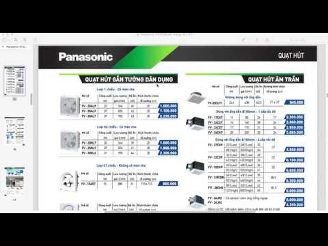 Bảng Giá Quạt Hút Panasonic Mới Nhất, Chiết Khấu Cao