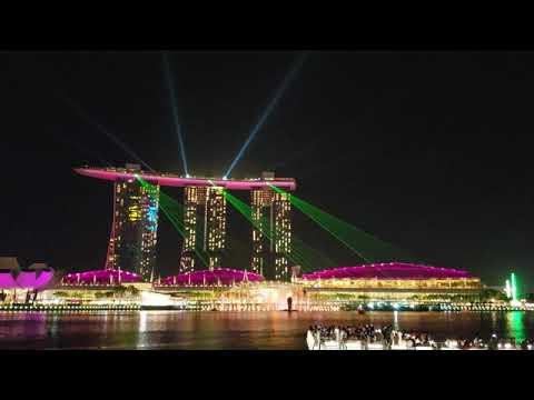 Singapore Marina Bay Sands Laser Show : Jan 2019