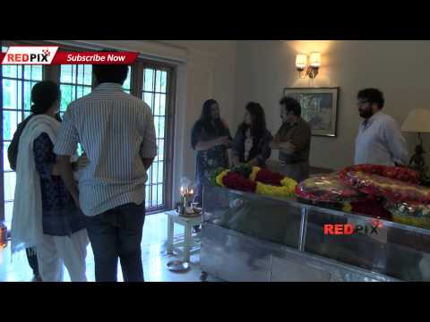 Actor Jayaram's mother dies - Actress Ambika and Radha pay homage to Jayaram's mother - Red Pix