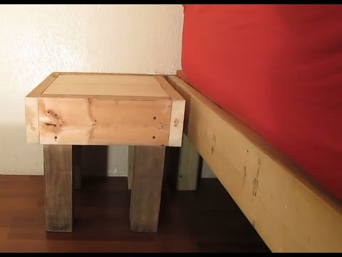 build your own night stand for a platform bed youtube. Black Bedroom Furniture Sets. Home Design Ideas
