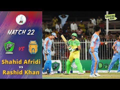 APLT20 2018 M22: Shahid Afridi vs Rashid Khan - Afghanistan Premier League T20