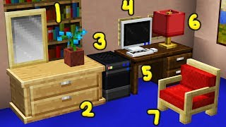 400+ NEW Minecraft Furniture INSTANTLY (Resource Pack)