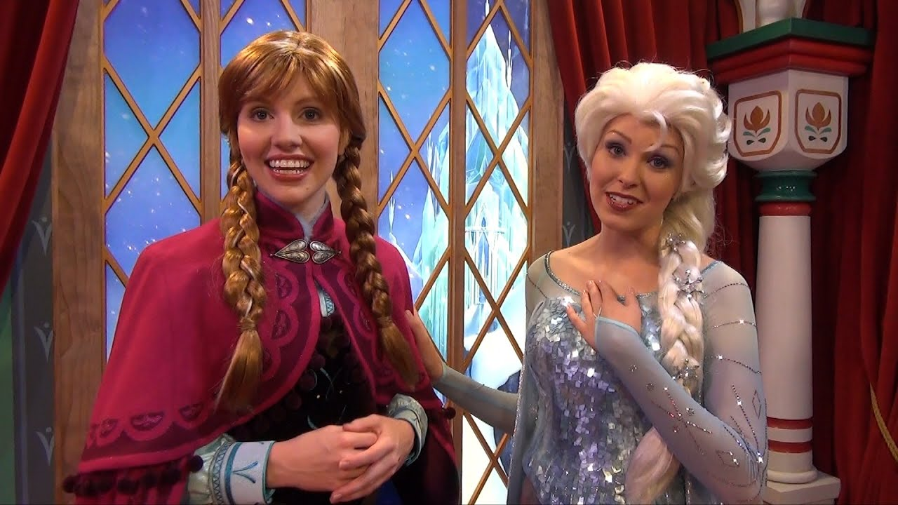 Anna And Elsa From Disney Frozen Official Debut At Epcots Norway
