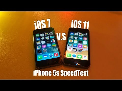 iPhone 5s iOS 7 V.S iOS 11 SpeedTest Comparison
