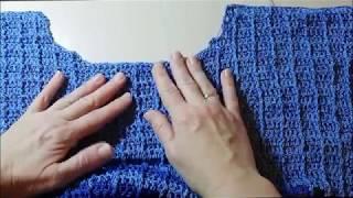 Как связать мужской свитер крючком  Просто и быстро Мастер класс  Часть 2