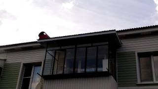 Ремонт крыши и потолка балкона.(, 2016-08-08T15:27:58.000Z)