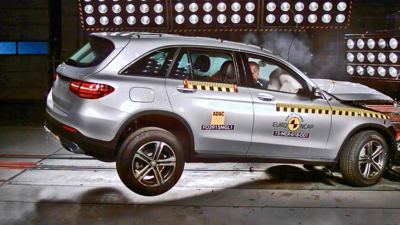 mercedes glc 2016 crash test youtube