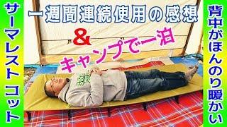 山口県にある秋吉台オートキャンプ場でテントを張り終え、テント内に寝...