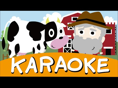 Karaoke: Old MacDonald Had A Farm | Children Nursery Rhyme | Kids Songs | Baby Puff Puff