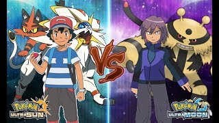 Pokemon Ultra Sun and Ultra Moon: Alola Ash Vs Paul (Paul Vs Ash Battle!)