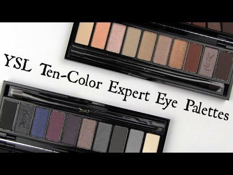 Ysl ten color expert eye palettes live swatches review youtube ysl ten color expert eye palettes live swatches review ccuart Gallery