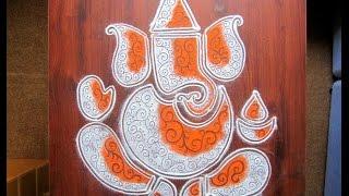 Ganesha rangoli design pattern - 1 | Innovative rangoli designs by Poonam Borkar