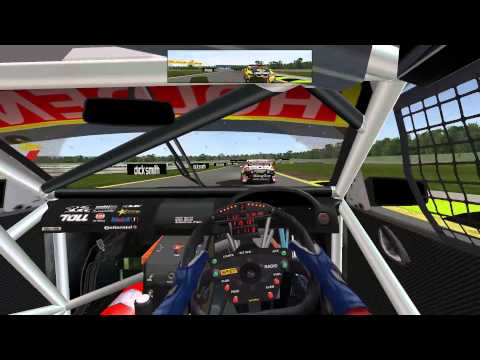 XSR V8 Supercars Season 2 Sandown Race 2 Onboard with Mongoose