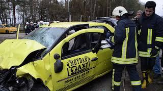 Lüleburgaz Tatarköy kavşağında kaza...