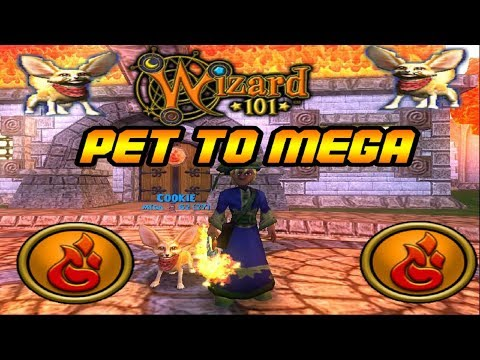 Wizard101 Fire Pet to Mega: Just Needs Pain Giver! - YouTube