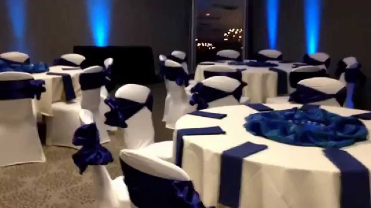 Ivory and Navy Wedding Reception at Todaro\'s Party Center - YouTube