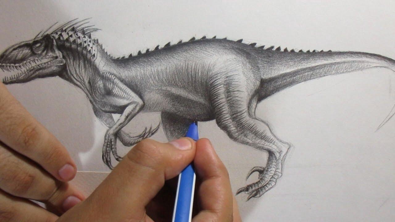 Cómo Dibujar Al Indoraptor De Jurassic World 2 A Lápiz Paso A Paso