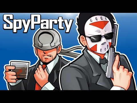 Spy Party - WHICH ONE ARE YOU OHM??? (First time playing) 1v1