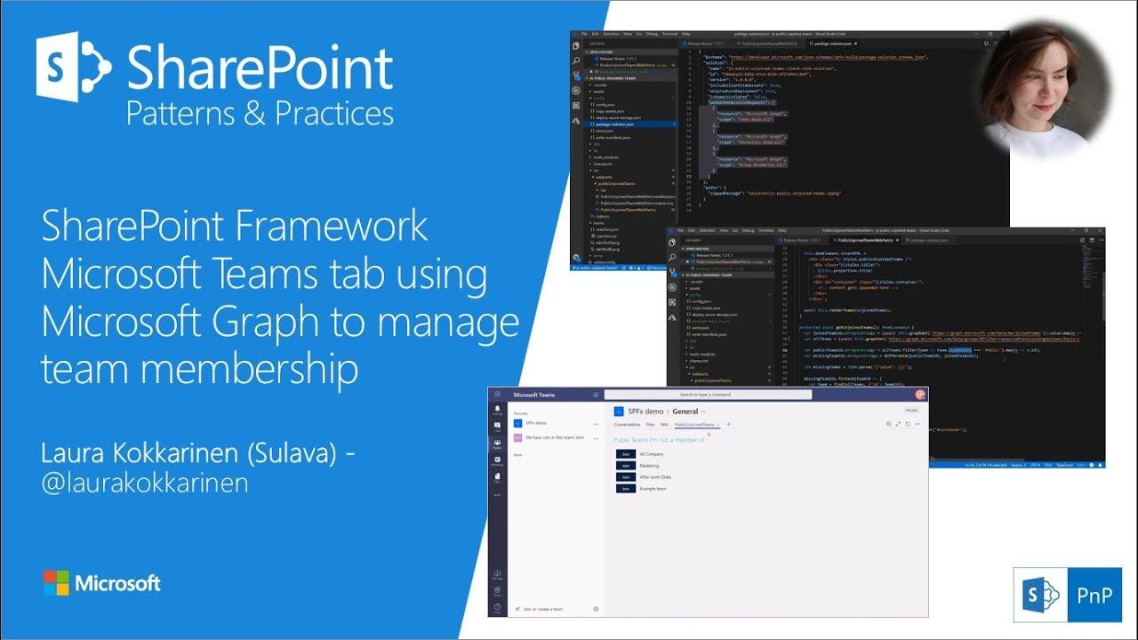 Community Demo - SPFx Microsoft Teams tab using Microsoft Graph to manage  team membership
