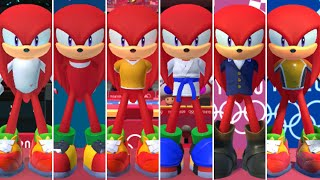 Mario & Sonic at the Olympic Games Tokyo 2020 - All Knuckles Outfits