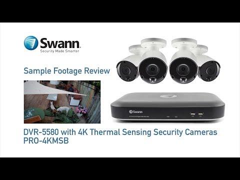 Swann 4K DVR Sample CCTV Footage Review DVR-5580 with PRO-4KMSB Security Cameras
