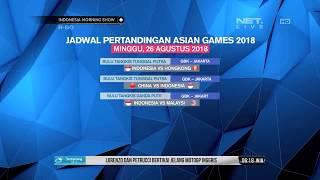 Download Video Jadwal Pertandingan Asian Games Di Hari Minggu 26 Agustus 2018 MP3 3GP MP4