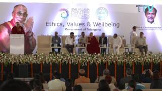 His Holiness' public talk on Ethics, Values and Wellbeing, Hyderabad