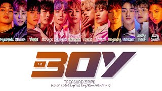 TREASURE 'BOY' Lyrics (트레저 BOY 가사) (Color Coded Lyrics)