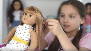 How To Do A Cute 70s Hairstyle On Your American Girl Dolls