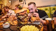 THE UNDEFEATED MONSTER MAC & CHEESE BURGER CHALLENGE | C.O.B Ep.55