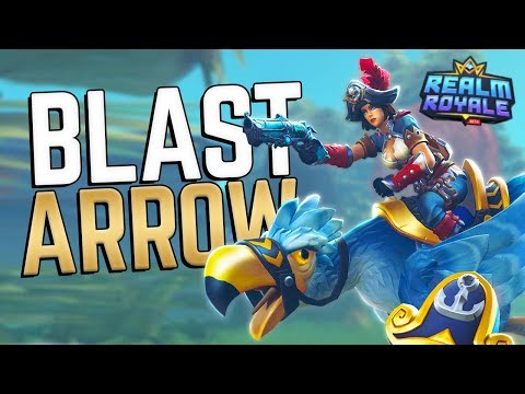 900+ Damage with 1 Ability?! | Realm Royale Hunter Blast-Arrow Build