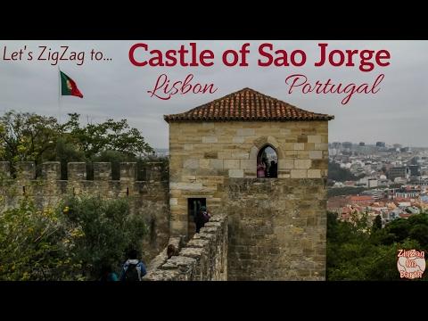 Lisbon castle of Sao Jorge Portugal