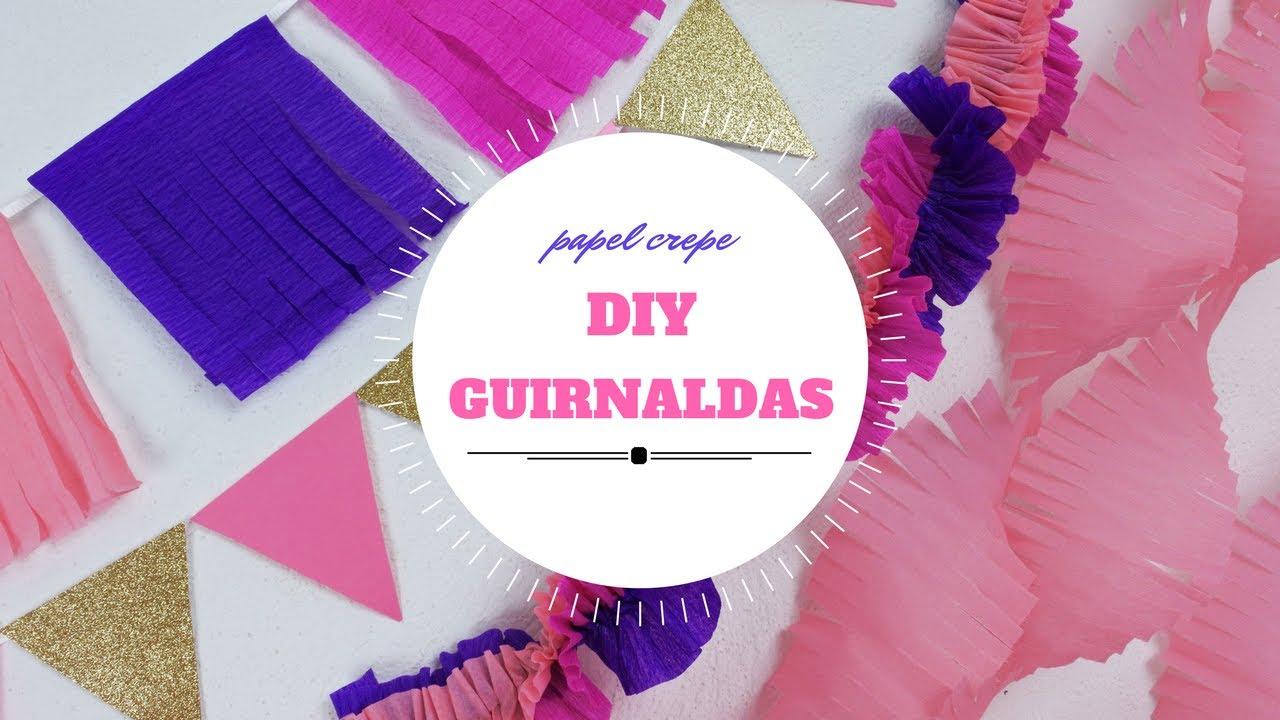 Guirnaldas de papel crepe youtube - Como hacer decoracion de cumpleanos ...