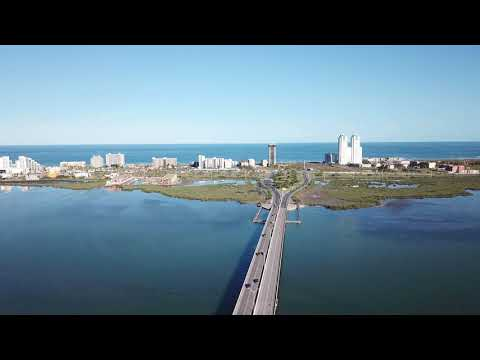 Drone Flight Port Isabel to South Padre Island Texas