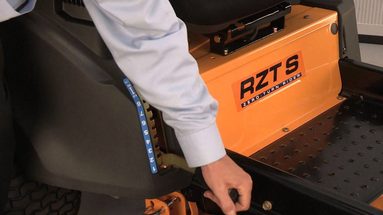 hight resolution of how to remove the deck on rzt zero turn riding mowers cub cadet