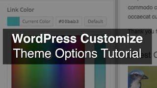 WordPress Customize (Color Picker) Tutorial Mp3