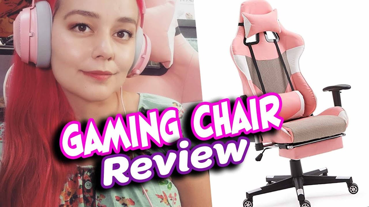 Giantex Gaming Chair Pink Review Unboxing