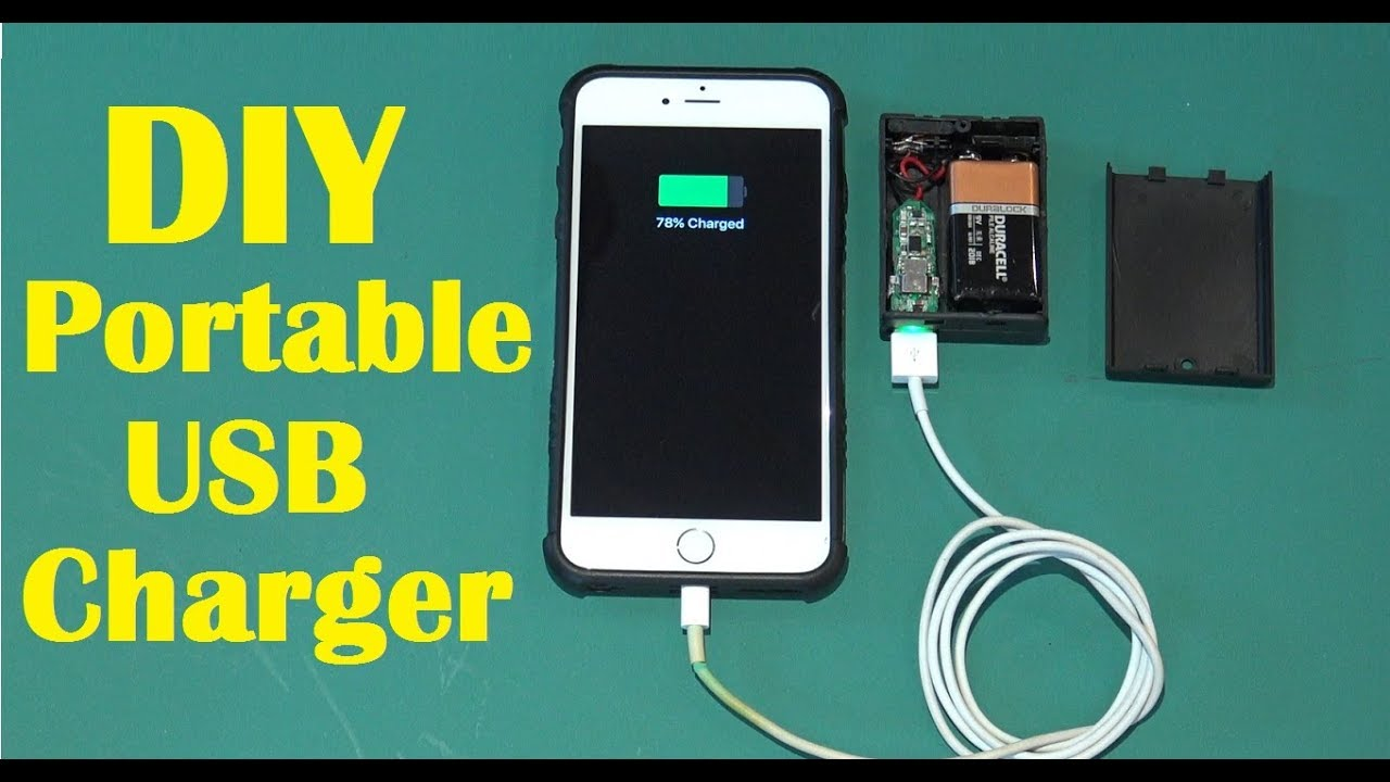 how to make an emergency mobile phone charger diy power bank youtube