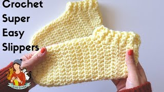 How To Crochet Super Easy Slippers