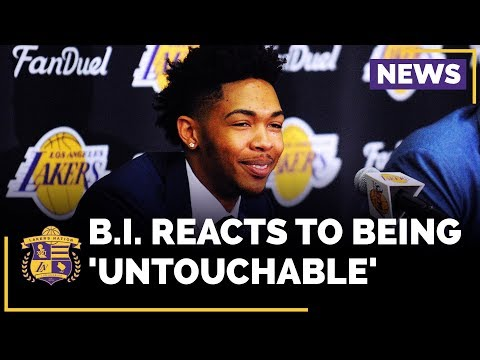 Brandon Ingram Reacts To Magic Johnson