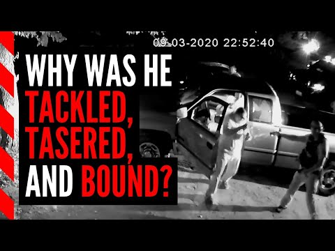 A man was tasered in his own driveway, but cops weren't finished with him