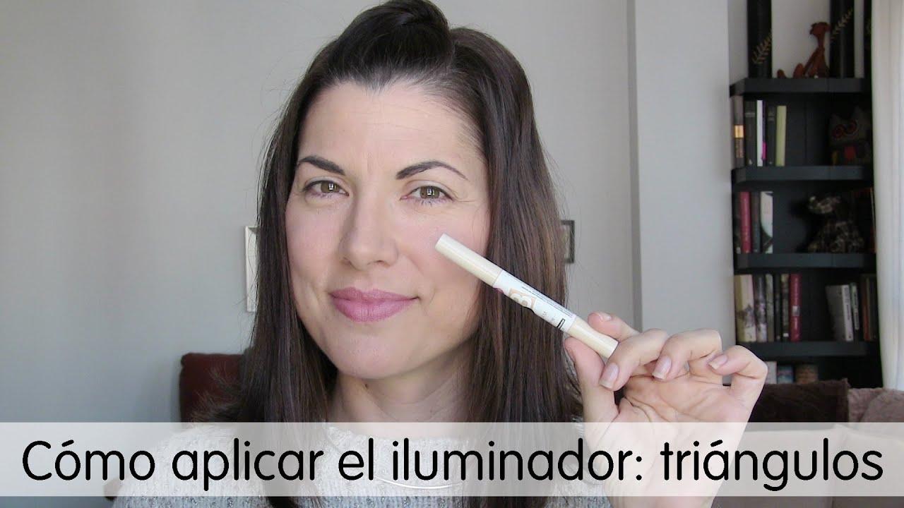 C mo aplicar el iluminador t cnica de tri ngulos youtube - Como aplicar el microcemento ...
