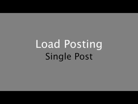 Load Posting - Post a Single Load