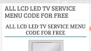 china led tv factory reset code
