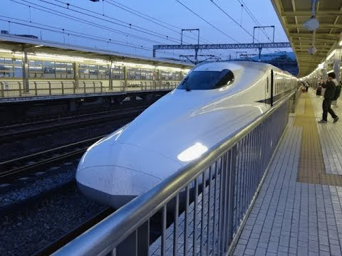 Shinkansen Bullet Train. JR Odawara to Tokyo, Japan - Mt Fuji Views