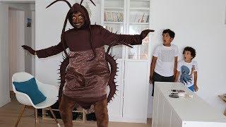 Cucaracha en nuestra casa, Kids Pretend Play, videos divertidos para niños,LES BOYS TV2 thumbnail